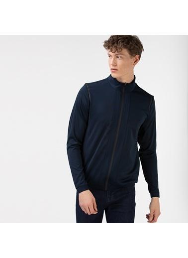 Lacoste Erkek Fermuarlı Sweatshirt SH0101.01L Lacivert